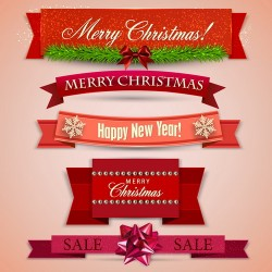 Christmas banner design vectors set 01