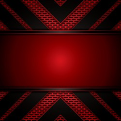 Black with red metal background vectors material 01