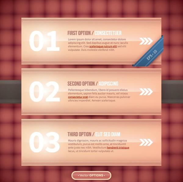 Options banners business vector 05