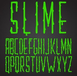Shiny green drop alphabet vector