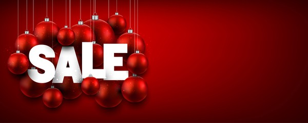 Christmas sale background red vectors