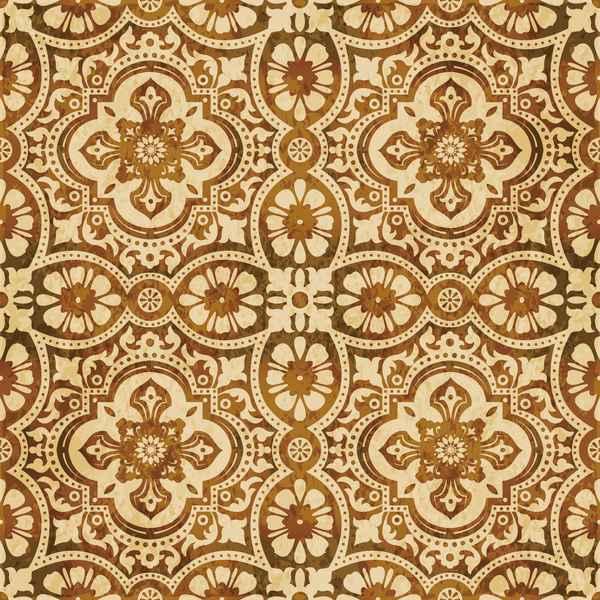 Retro kaleidoscope floral seamless pattern vector 05