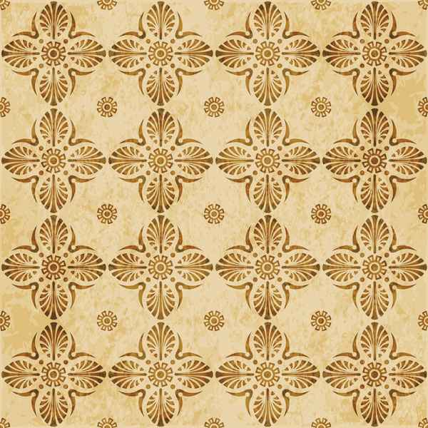 Retro kaleidoscope floral seamless pattern vector 11