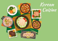 Korean food design vector 05
