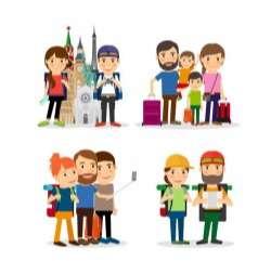 Travel people illustration vector set 01