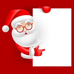 Cute santa with christmas blank background vector 01