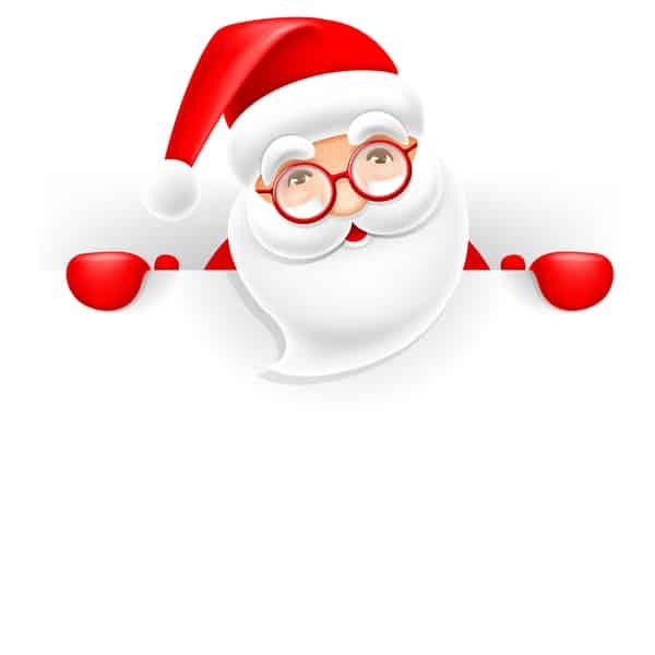 Cute santa with christmas blank background vector 03