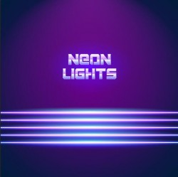 Neon lights shining background vector 14
