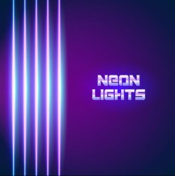 Neon lights shining background vector 12