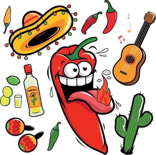 Cartoon pepper funny vector illustration