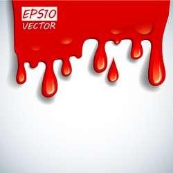 Blood drop effect background vector 02
