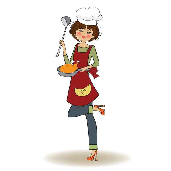 Cooking housewife vector material 01