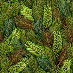 Christmas fir branches seamless pattern vector 01
