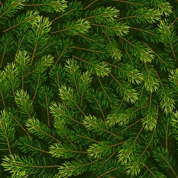 Christmas fir branches seamless pattern vector 03