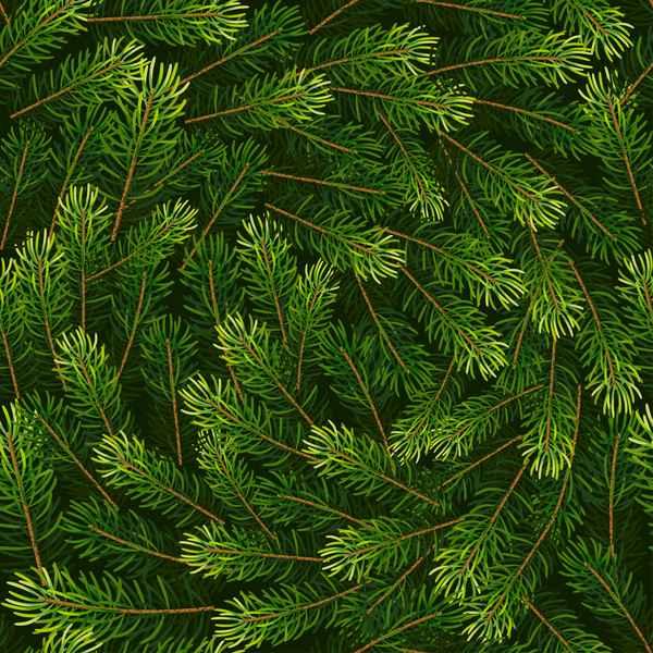 Christmas fir branches seamless pattern vector 03