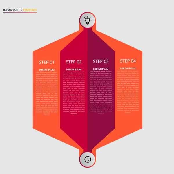 Minimalistic design infographic template vectors material 17