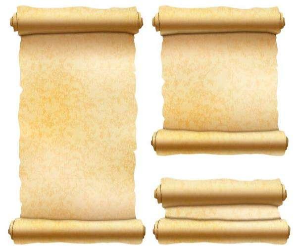 Vintage paper scrolls banners vector 04