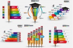6 Kind education infographic template vector