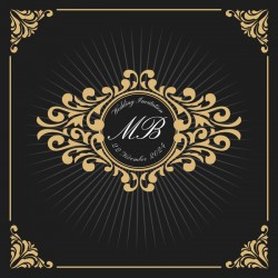 Vintage luxury frame with label template vector 02