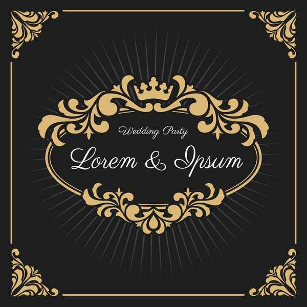 Vintage luxury frame with label template vector 05