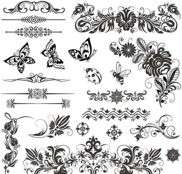 Floral ornaments with insect vector material