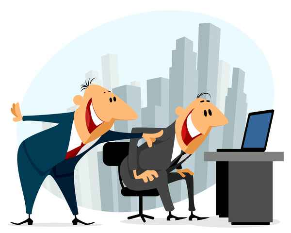 Funny cartoon professional staff of office vector 01