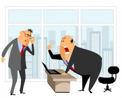 Funny cartoon professional staff of office vector 02