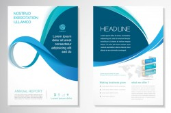 Abstract business flyer with brochure cover template vector 11