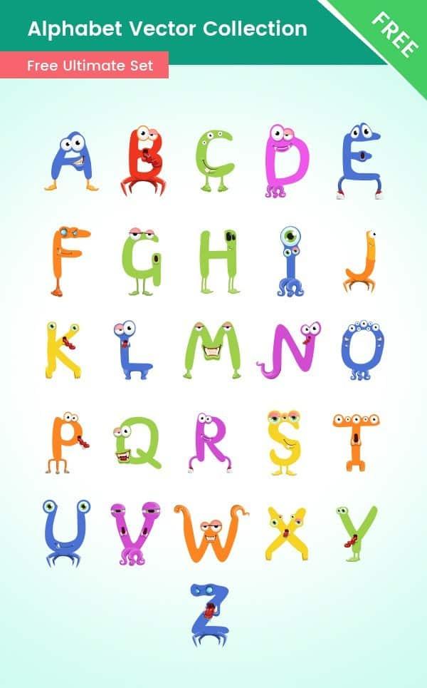 Alphabet Cartoon Characters