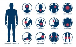 Body pain illustration set
