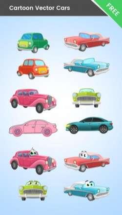 Cartoon Cars Vector Mega Collection