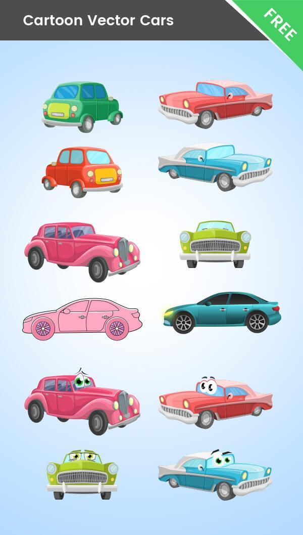 Cartoon Cars Vector Mega Collection