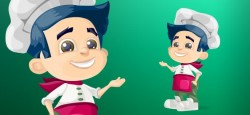 Chef Kid Illustration