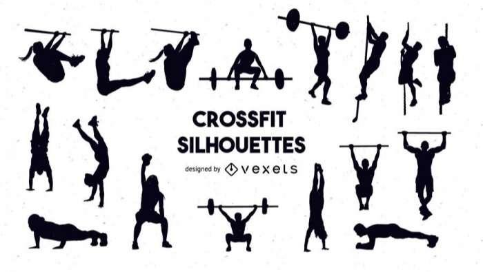 Crossfit silhouette set