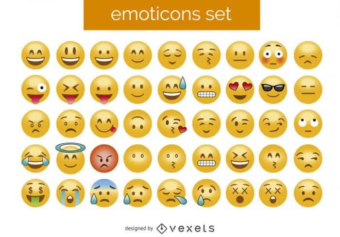 3D emoticon set – Vector download