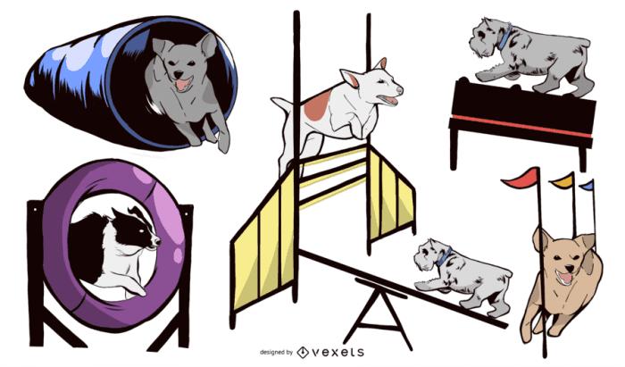 Dog Agility Equipment Design Set