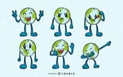 Earth Emojis Set