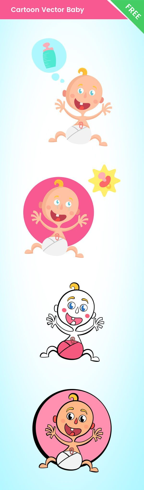 Free Vector Baby Cartoon Characters