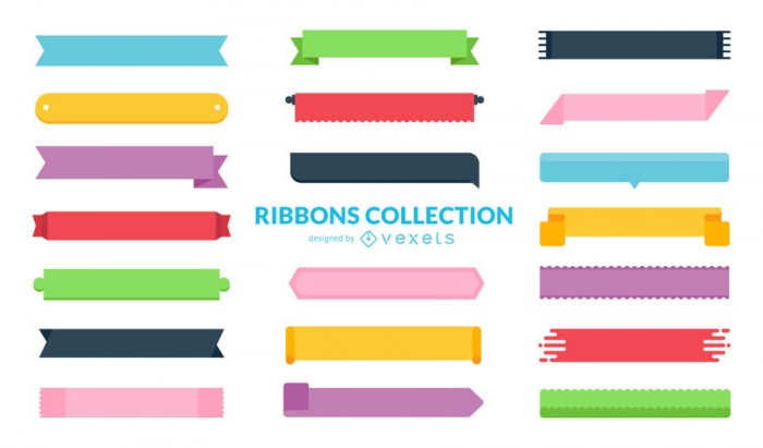Huge flat ribbon collection