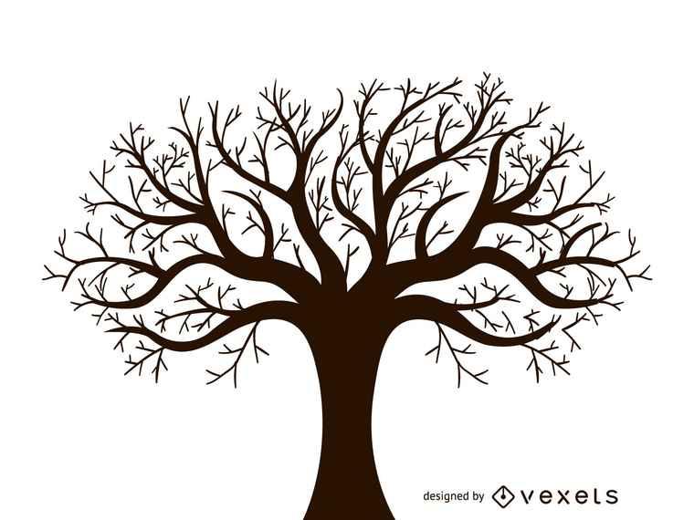 Leafless Autumn Tree Design Vector