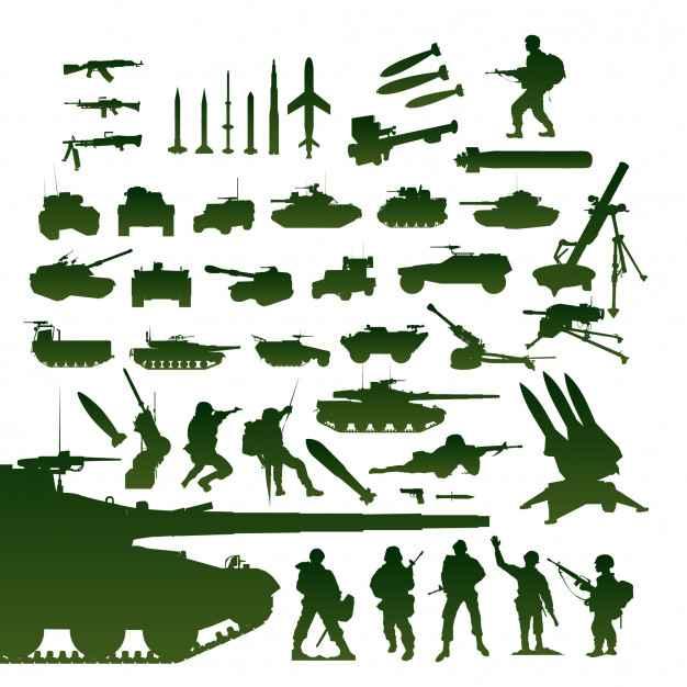 Military items set