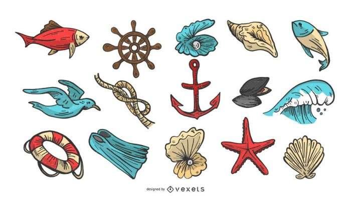 Nautical Vector Illustration Set
