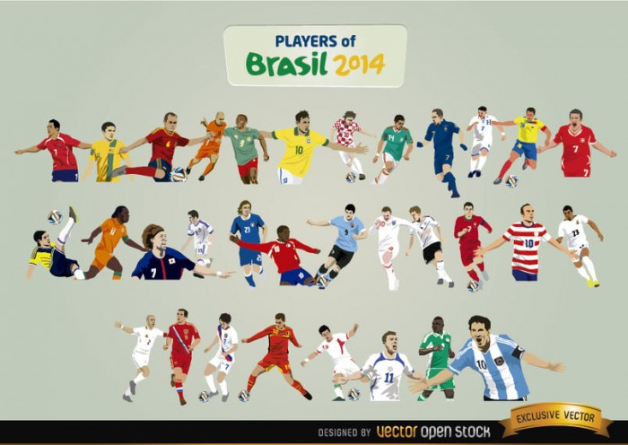 Players of Brazil 2014
