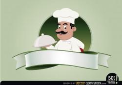 Restaurant Emblem with Chef