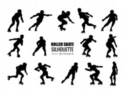 Roller skating silhouette collection