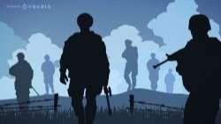 Soldier war silhouettes