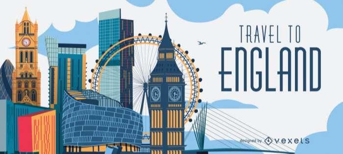 Travel to England London skyline