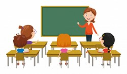 Vector illustration of classroom