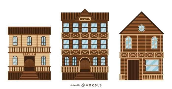 Western Town Building Set