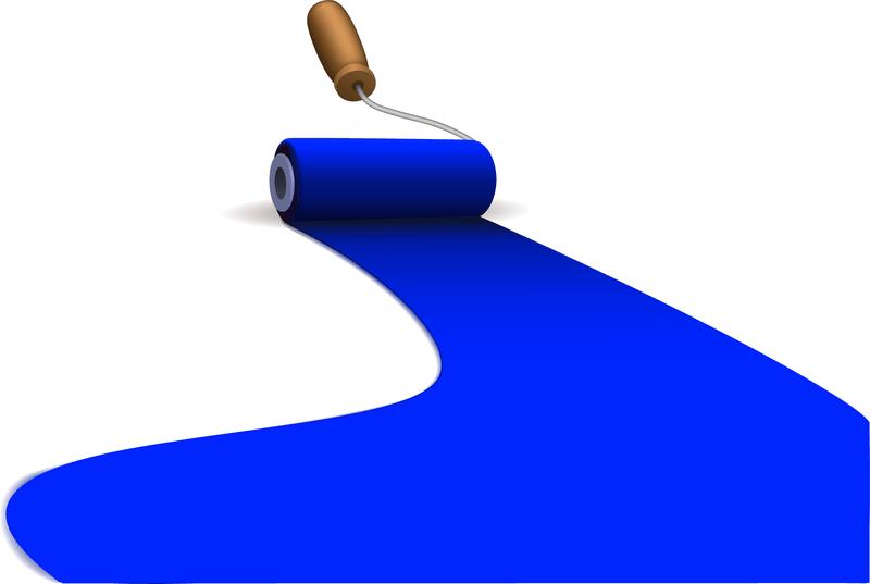 Blue paint illustration